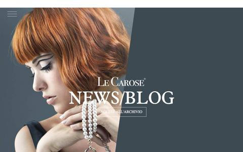 Screenshot of Press Page lecarose.com - Le Carose » News - captured March 9, 2016