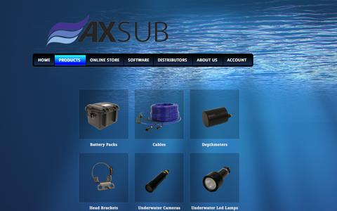 Screenshot of Products Page axsub.com - Products Archive | AXSUB - captured Feb. 5, 2016