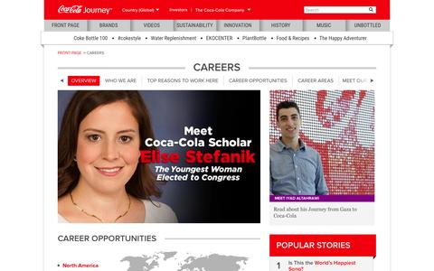 Screenshot of Jobs Page coca-colacompany.com - Careers at The Coca-Cola Company: The Coca-Cola Company - captured Oct. 21, 2015