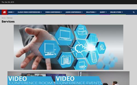 Screenshot of Services Page av-live.com.pk - Services - AV Live - captured Dec. 5, 2019