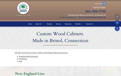 Screenshot of Products Page villagecabinets.com - Wood Cabinets - Bristol, CT - Village Cabinets - captured Sept. 21, 2018