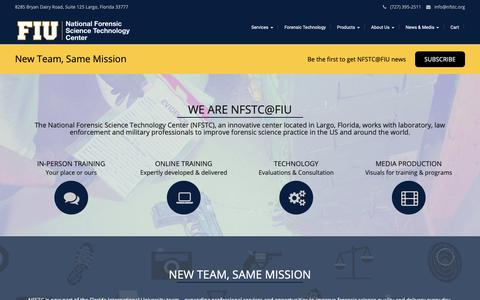 Screenshot of Home Page nfstc.org - NFSTC@FIU - captured Oct. 18, 2018