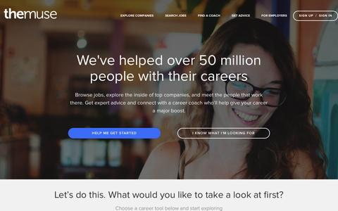 Search Jobs, Career Advice and Company Profiles at The Muse