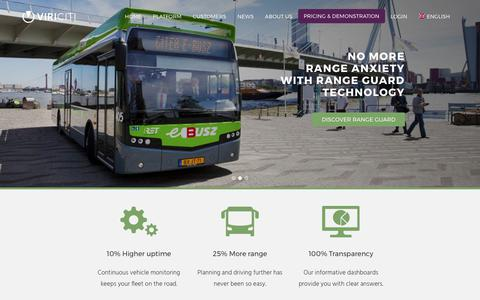 Screenshot of Home Page viriciti.com - ViriCiti | Monitoring for electric city buses and trucks - captured June 19, 2017
