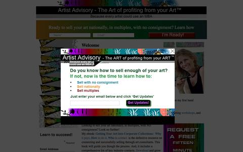 Screenshot of Home Page artistadvisory.com - Artist Business and Marketing Consultant | Promoting artists success - captured July 26, 2016