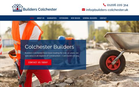 Screenshot of Home Page builders-colchester.uk - Builders Colchester, Essex - Trusted Building & Construction Company - captured Jan. 19, 2018