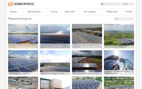 Screenshot of Case Studies Page solarcentury.com - Case Studies - East Africa - captured July 10, 2016