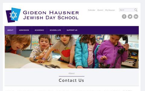 Screenshot of Contact Page hausner.com - Gideon Hausner |  Contact Us - captured Nov. 6, 2016