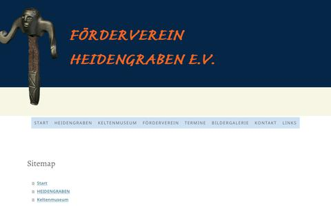 Screenshot of Site Map Page jimdo.com - Sitemap - keltenmuseum-heidengrabens Webseite! - captured Feb. 18, 2018