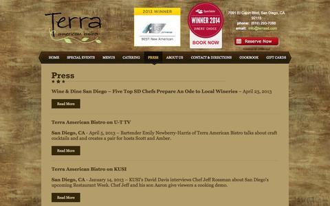 Screenshot of Press Page terrasd.com - Press - captured Oct. 6, 2014