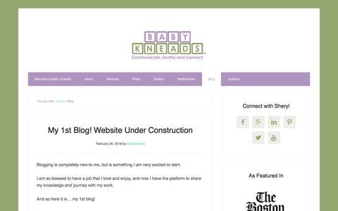 Screenshot of Blog babykneads.com - Blog - captured July 28, 2016
