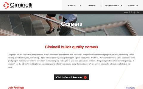 Screenshot of Jobs Page ciminelli.com - Job Board - View Job Postings - captured Nov. 5, 2016