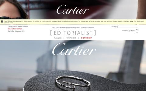 Screenshot of Home Page editorialist.com - Editorialist | Luxury Fashion Accessories Magazine & Online Store - captured May 3, 2017