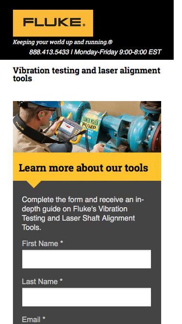 Fluke Vibration Testing and Laser Alignment Tools