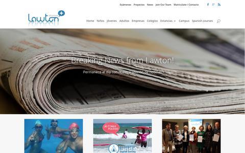 Screenshot of Press Page lawtonschool.com - Breaking News from Lawton! Noticias de Lawton   Lawton Idiomas - captured May 15, 2017