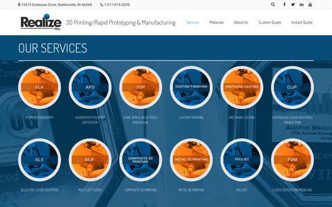 Screenshot of Services Page realizeinc.com - Services | Realize Inc - captured Sept. 20, 2018