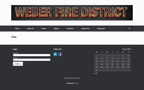 Screenshot of FAQ Page weberfiredistrict.com - FAQs   Weber Fire District - captured Aug. 4, 2015