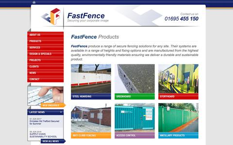 Screenshot of Products Page fastfence.co.uk - Product Range | Secure Fencing Solutions, Environmentally Friendly | FastFence Contracting Ltd - captured Aug. 12, 2018