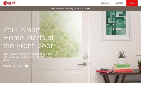 Screenshot of Home Page august.com - August Home | Your Smart Home Starts at the Door. - captured Sept. 25, 2017
