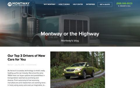Screenshot of Blog montway.com - Blog � Montway Auto Transport - captured Dec. 3, 2015