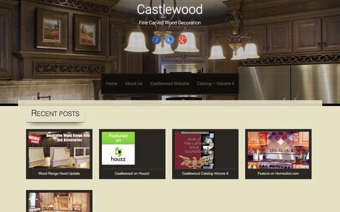 Screenshot of Blog castlewood.com - Castlewood | Fine Carved Wood Decoration - captured March 17, 2016