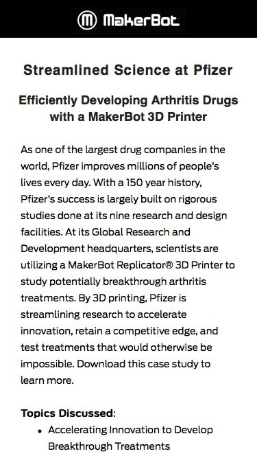 MakerBot Success Stories: Streamlined Science at Pfizer