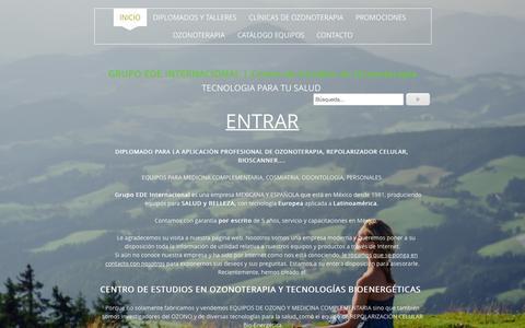 Screenshot of Home Page edeinternacional.com - CENTRO DE ESTUDIOS EN OZONOTERAPIA - Grupo EDE Internacional | Centro de Estudios en Ozonoterapia - captured Sept. 16, 2015