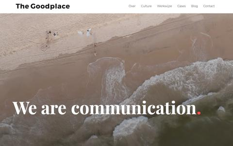 Screenshot of Home Page thegoodplace.nl - The Goodplace Full-service creatief communicatiebureau uit Utrecht. - captured Nov. 18, 2018