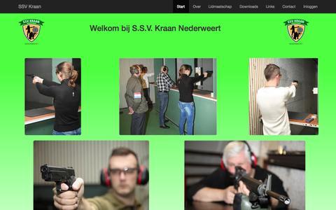 Screenshot of Home Page svkraan.nl - SSV Kraan - captured Aug. 2, 2015