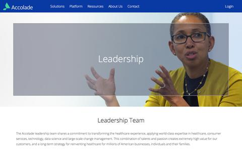 Screenshot of Team Page accolade.com - Leadership - Accolade - captured March 17, 2018