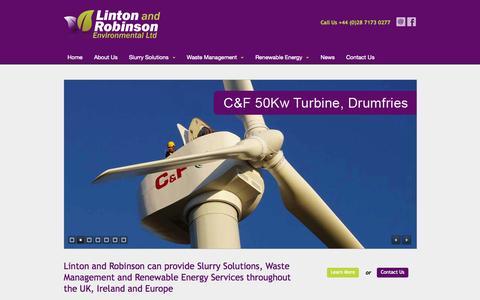 Screenshot of Home Page lintonandrobinson.co.uk - Linton and Robinson - Home - captured Oct. 2, 2014