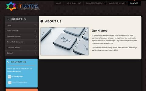 Screenshot of About Page it-happens.eu - IT Happens About Us - captured Oct. 3, 2014