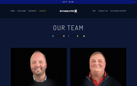 Screenshot of Team Page synglyphx.com - TEAM — SynGlyphX - captured Nov. 19, 2018
