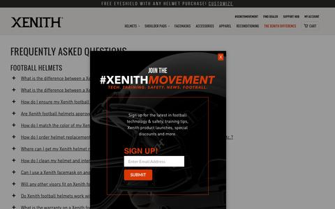 Screenshot of FAQ Page xenith.com - Frequently Asked Questions | Xenith FAQs - captured June 4, 2016