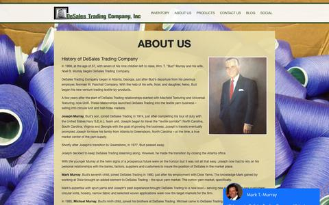 Screenshot of About Page desales.com - DeSales Trading | About Us - captured Oct. 8, 2018