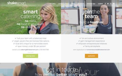 Screenshot of Contact Page shakesmart.com - contact - Shake Smart - captured Aug. 2, 2015