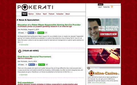Screenshot of Press Page pokerati.com - Pokerati   » News & Speculation - captured Nov. 2, 2014