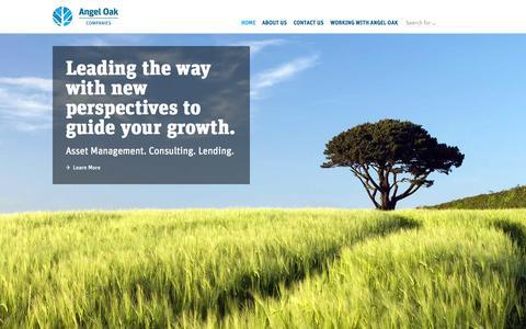 Screenshot of Home Page angeloakcompanies.com - Angel Oak Companies   Angel Oak Financial Services Firms - captured Jan. 27, 2015