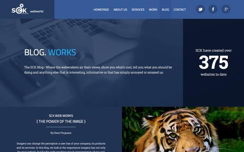Screenshot of Blog sck-webworks.co.uk - The Wonderful SCK Web Works Blog - captured Feb. 3, 2016