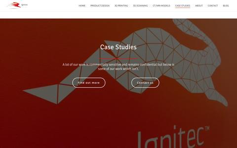 Screenshot of Case Studies Page ignitec.com - Case studies - Ignitec - captured April 8, 2016