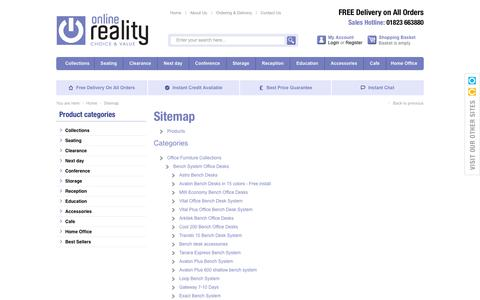 Screenshot of Site Map Page onlinereality.co.uk - Sitemap- Online Reality - captured Oct. 26, 2014