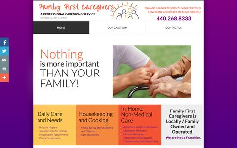 Screenshot of Home Page familyfirstcares.com - Home - captured Oct. 5, 2014