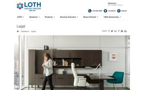 Screenshot of Terms Page lothinc.com - Legal - LOTH, Inc. - captured July 2, 2018