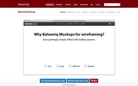 Screenshot of Products Page balsamiq.com - Balsamiq Mockups - captured Sept. 18, 2014