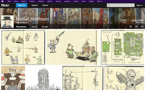 Screenshot of Flickr Page flickr.com - Flickr: Mattias Adolfsson's Photostream - captured Oct. 23, 2014