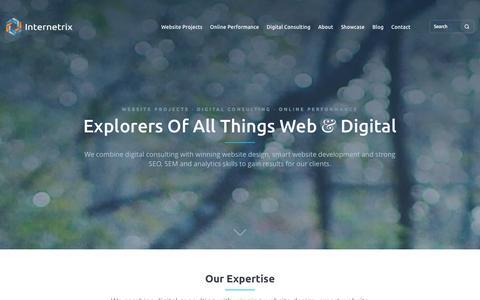 Screenshot of Menu Page internetrix.com.au - Website development, Digital Marketing Agency » Internetrix Online Advertising and Web Development Company » Internetrix - captured Oct. 29, 2014