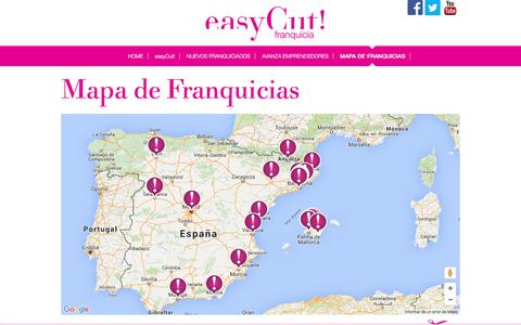 Screenshot of Maps & Directions Page easycutfranquicia.com - easyCut - captured April 12, 2016