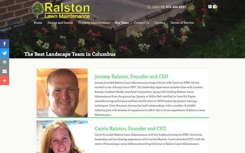 Screenshot of Team Page ralstonlawnmaintenance.com - Our Team - captured Aug. 12, 2016