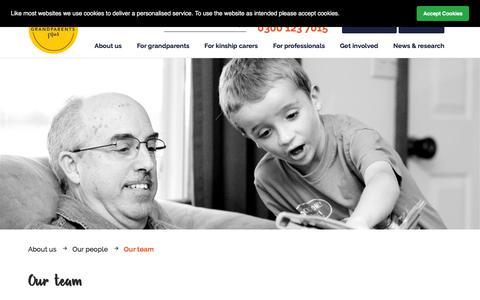 Screenshot of Team Page grandparentsplus.org.uk - Grandparents Plus | FAQs | Our team - captured July 23, 2018