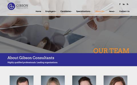 Screenshot of Team Page gibson-consultants.com - Our Team - Gibson Consultants - captured July 18, 2018